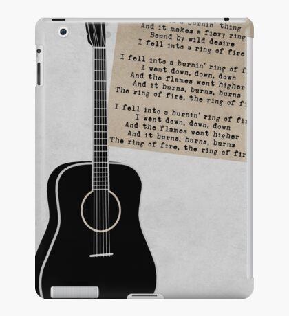 Retro Music - Johnny Cash Ring of Fire iPad Case/Skin