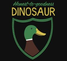 Honest-To-Goodness Dinosaur: Duck (on dark background) by David Orr