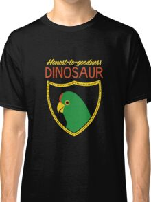 Honest-To-Goodness Dinosaur: Parakeet (on dark background) Classic T-Shirt
