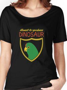 Honest-To-Goodness Dinosaur: Parakeet (on dark background) Women's Relaxed Fit T-Shirt