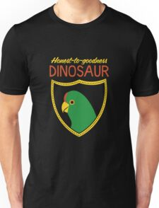 Honest-To-Goodness Dinosaur: Parakeet (on dark background) T-Shirt