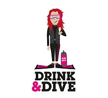 Drink and Dive - Scuba Diver - Red Long Hair by nelson92