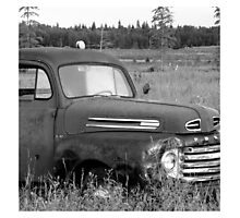 Old Truck - b&w Photographic Print