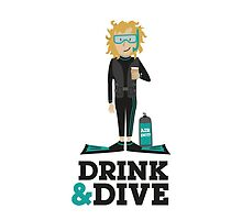 Drink and Dive - Scuba Diver - Blonde Short Hair by nelson92