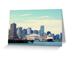 Southern view of Canada Place - Vancouver BC Canada Greeting Card