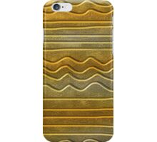 Abstract Gold Texture Wavy Lines Pattern iPhone Case/Skin