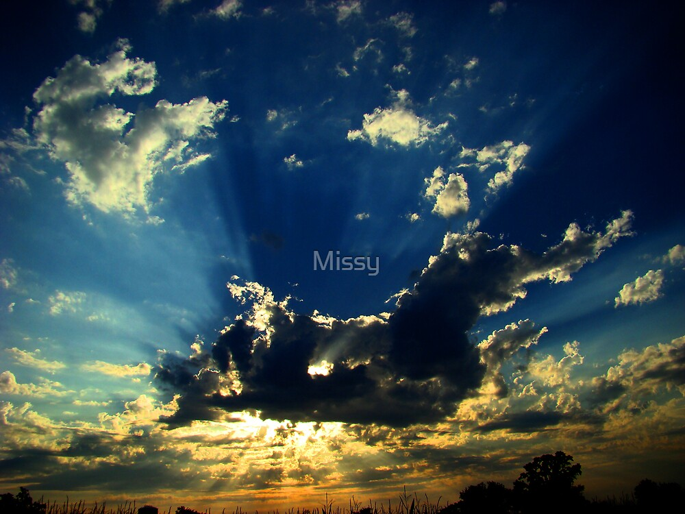 Powerful skies by Rodica Nelson