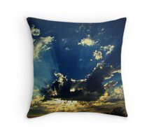 Powerful skies Throw Pillow