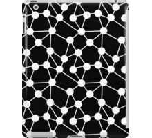 Atoms - Black and white scattered geometric pattern  iPad Case/Skin