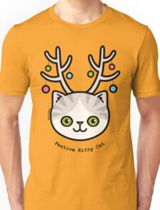 Festive Kitty Cat Unisex T-Shirt