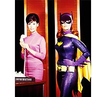 The 2 Faces of Barbara Gordon Photographic Print