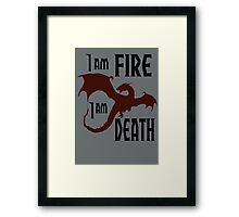 Fire & Death Framed Print