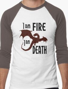 Fire & Death Men's Baseball ¾ T-Shirt