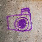 Purple Graffiti Camera by eyeshoot