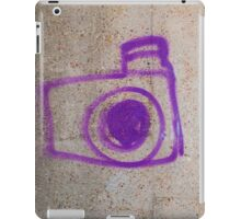 Purple Graffiti Camera iPad Case/Skin