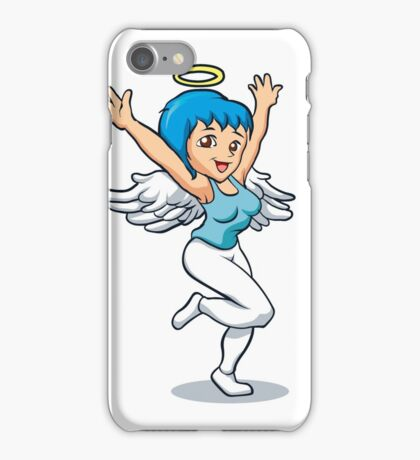angel girl with wings iPhone Case/Skin