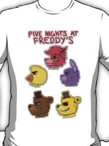 Five Nights at Freddy's Characters T-Shirt