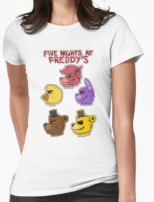 Five Nights at Freddy's Characters Womens Fitted T-Shirt