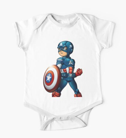 captain america One Piece - Short Sleeve