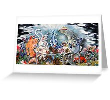 SEAFOOD PLATTER oil on canvas Greeting Card