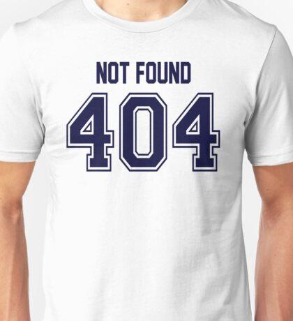 Error 404 - Not Found - Navy Letters Unisex T-Shirt