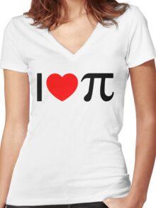 I Heart Pi - I Love Pi Women's Fitted V-Neck T-Shirt