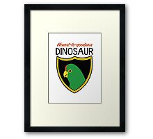 Honest-To-Goodness Dinosaur: Parakeet (on light background) Framed Print