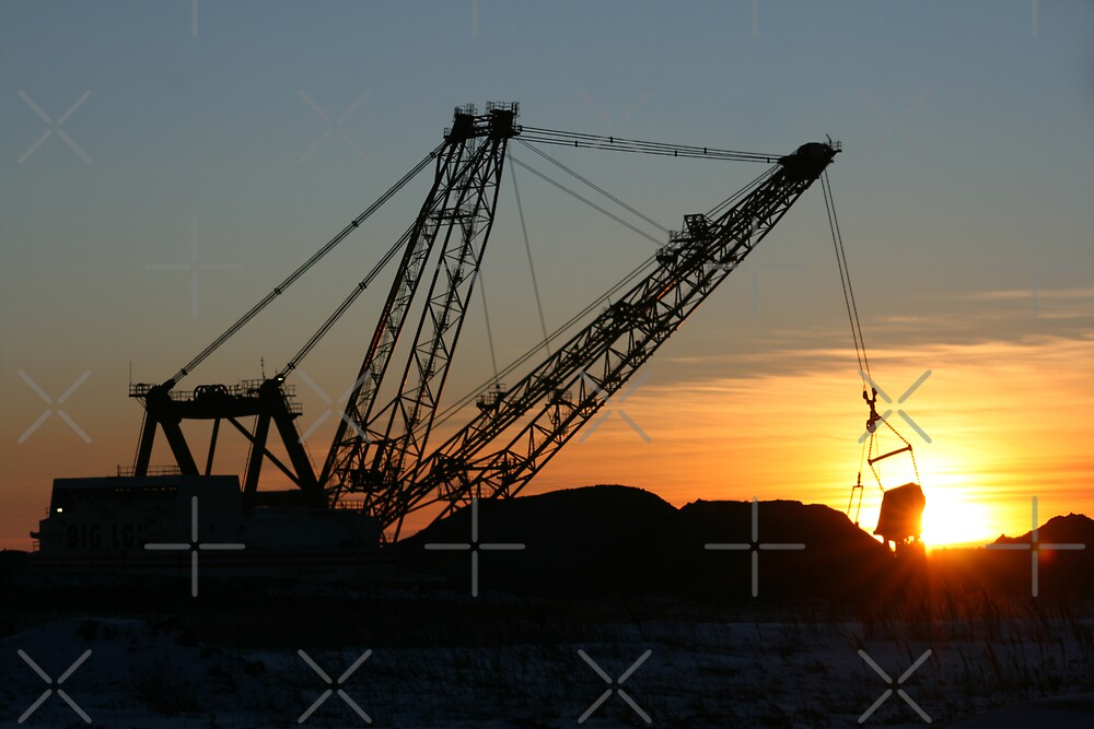 Strip Mine Dragline by Angela E.L. Clements