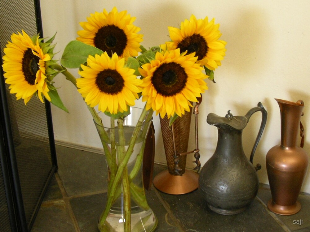Sun Flowers by saji