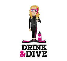 Drink and Dive - Scuba Diver - Blonde Long Hair by nelson92
