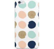 Wren - Brush strokes in modern colors turquoise, mint, navy, blush  iPhone Case/Skin