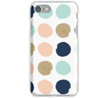 Wren - Brush strokes in modern colors turquoise, mint, navy, blush  iPhone Case/Skin