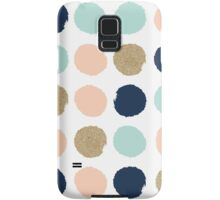 Wren - Brush strokes in modern colors turquoise, mint, navy, blush  Samsung Galaxy Case/Skin