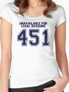 Error 451 - Unavailable For Legal Reasons - Navy Letters Women's Fitted Scoop T-Shirt