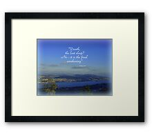 The Final Awakening Framed Print