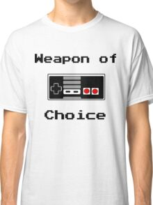 Old School Gamer Weapon of Choice Art Classic T-Shirt