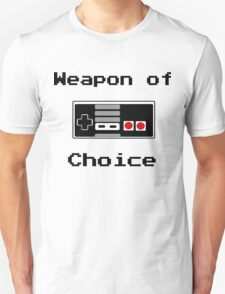 Old School Gamer Weapon of Choice Art T-Shirt