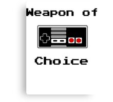 Old School Gamer Weapon of Choice Art Canvas Print