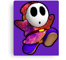 Shy guy up in stars Canvas Print