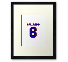 National baseball player Alberto Callaspo jersey 6 Framed Print