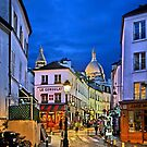 Night falling in Montmartre - Paris by Hercules Milas