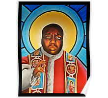 Notorious B.I.G Pope Biggie Stain Glass Window Poster