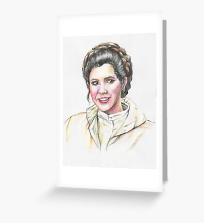 Leia Star Wars water painting Greeting Card