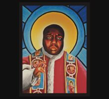 Notorious B.I.G Pope Biggie Stain Glass Window T-Shirt