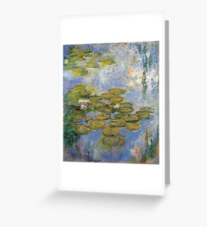 Claude Monet - Water Lilies 1919 Greeting Card