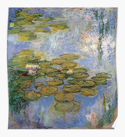 Claude Monet - Water Lilies 1919 Poster