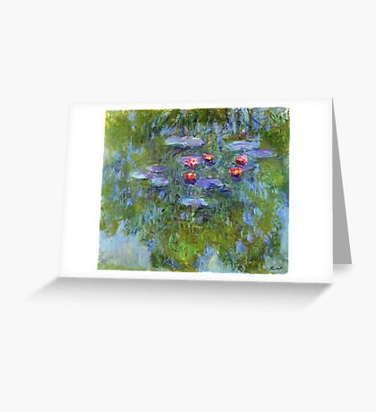 Claude Monet - Water Lilies 1919 3 Greeting Card
