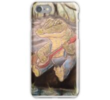 Alligator Playing The Banjo iPhone Case/Skin