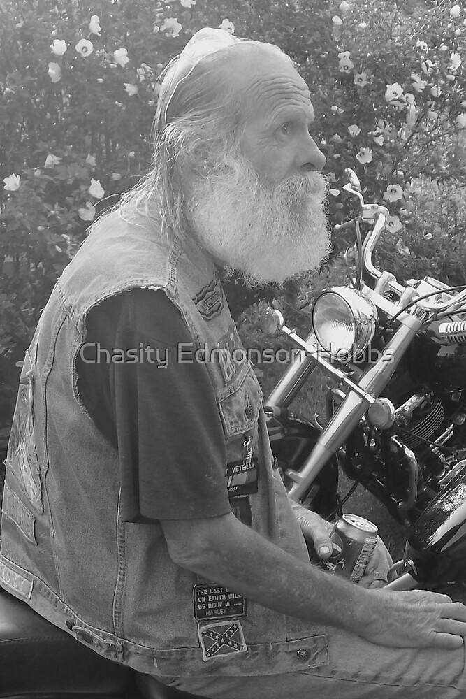 Old Biker  by Chasity Edmonson-Hobbs
