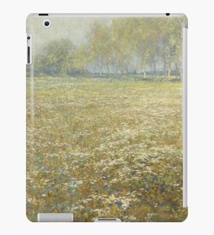 Egbert Rubertus Derk Schaap - Meadow In Bloom iPad Case/Skin